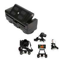 carros de triciclo venda por atacado-Dobrável Triciclo Câmera Trilho Carros Mesa Dolly Carro Vídeo Slider Traker 1/4 '' Parafuso Mount Plate para DSLR Camera For Gopro