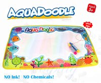 Wholesale Paints For Kids - Coolplay 59x36cm Multicolor Rainbow Water Drawing Mat with 2 Pen Aqua Doodle Mat Rug for Painting Xmas Gift for Kids 2107322