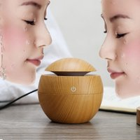 Wholesale Purifier For Car - Hot Sale 130ML LED Humidifier Ultrasonic Cool Mist Aroma Air Humidifier USB Air Purifier for Car Office Home Bedroom Living