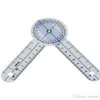 Wholesale 10Pcs Protractor Goniometer Pocket Axis Motion Range Tester Angle ruler Medical PVC Ruler