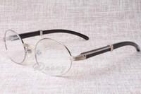 Wholesale 22 Speakers - 2017 new retro round glasses 7550178 black speaker eyeglasses men and women spectacle frame size: 55-22-135mm