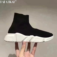 Wholesale Thick Elastic Fabric - 2017 SS woMen Shoes Brand Quality woMen Light Socks Shoes Elastic Breathable Loafers The thick high help sports shoes