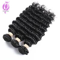 Wholesale Remy Hair Sold Bundles - Best Selling Deep Wave Brazilian Hair Weave Bundles 3PCS non-Remy Hair Weaving 8-30 inch Human Hair Bundles deep wave