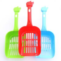 Wholesale Portable Cat Cleaning Shovel Kitten Litter Scoop Dog Pet Poop Scoop Mix Colors wa3454
