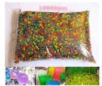 Wholesale Bag For Hot Water - HOT SALE 10000pcs bag Water Beads MarvelBeads for Orbeez Spa Refill Sensory Toy Soft Crystal Bullet Paintball Bullet Crystalbullet Watergunb