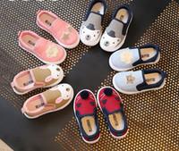 Wholesale Girl Rabbit Canvas Shoes - Baby shoes 2017 Boys Girls cute rabbit Canvas shoes toddler kids soft non-slip pre walkers children casual shoes Infant cartoon shoe T2035