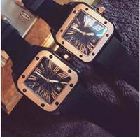 Wholesale Rubber Watches For Women - 2017 Hot Fashion Luxury Watches Top Brand Casual men watch Dress quartz watch Rome Numbers C Wristwatches for Men Women relojes clock