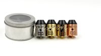 Wholesale Gold Metal Usa - Rogue Force RDA Atomizers Clone 4 Colors 24mm Diameter with Brass Red Copper Silver Gold 510 thread Hot in USA DHL