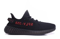Wholesale New Boost French Monta SPLY V2 Black Red Men And Women BRED Running Shoes New In Box