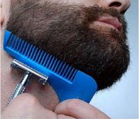 Wholesale Pvc Cutting Tools - 2017 Hot Comb Beard Bro Shaping Shaving Brush Sexy Man Gentleman Beard Trim Template Hair Cut Molding Trim Template Beard Modelling Tools