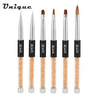 Wholesale BQAN Rhinestone Nail Art UV Gel Brush Sable Brush Head Acrylic Handle Drawing Line Pen DIY Nail Tools Nail Art Painting Pen