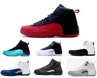 Wholesale Gs For Sale - 2018 new Basketball Shoes 12 Premium Deep Royal Blue Suede 12s Wool Black Nylon Men Cheap Sneakers For GS Barons Sale
