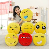 Wholesale Air Conditioned Pillow - 7styles Emoji Multifunction plush Cushion Coral Blanket+Cushion+Warm hand Emoji throw pillow blanket 160*100cm Air conditioning blanket