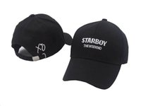 Wholesale Silver Kissing Balls - THE WEEKND STARBOY LOGO DAD CAP KISS LAND KISSLAND BBTM TRILOGY hip hop hats 6 panel xo logo baseball caps bone swag gorras