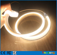 Wholesale Led Tubes For Sale - Hot sale 50m 220V spool flexible strip Flat soft tube warm white led neon lighting neon-flex rope 2835smd for decoration