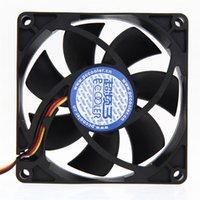 Wholesale Computer Brand Pins - Wholesale- Brand New Mute 80mm Computer PC Case 3 4 Pin Cooling Fan with Screw Pad for PC CPU High Quality