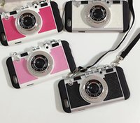 Wholesale Cameras Case For Sale - 2016 Hot Sale Black Camera iPhone 6 6 Plus Cell Phone Cases Free Shipping Pink Camera iPhone 7 7 Plus Cell Phone Accessories 159