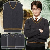 Wholesale Sweater School - 4Styles Harry Potter Cosplay Costume Gryffindor Slytherin Ravenclaw Hufflepuff Vest School Uniform Harry Sweater Waistcoat
