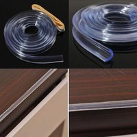 Wholesale Table Corner Bumpers - Wholesale- Infant Baby Child 1M Soft Clear Silicone Bumper Strip Table Corner Edge Protection Cushions Pad Baby Safety Products