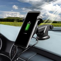 Wholesale Fast Car Styling - N5 Universal wireless fast charging phone holder Mount stand Car Bracket HUD Style for For iPhone 6 7 Samsung S6 S7 S8 android