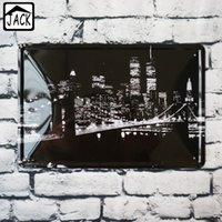 Wholesale Vintage Brooklyn - Brooklyn Bridge 20x30cm Metal Tin Signs Vintage metal poster Paintings Shop Bar Home Badroom Gallery Garage Wall Decor