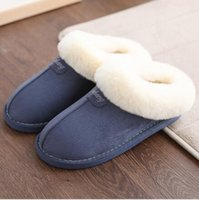 Wholesale Warm Fluffy Slippers - 2017 Winter warm soft cotton slippers couples home indoor and fluffy cotton slippers Australia ug style of high quality slippers