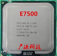 Wholesale Wholesale Cpu Processors - Wholesale- E7500 Processor 2.93GHz  3M  1066MHz Desktop LGA775 CPU