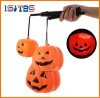 2017 Hot Sale Halloween Decoração Pumpkin Light Jack O Lanterna suspensa Home Party Toy Props Lanterna de abóbora