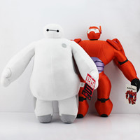 Wholesale Dolls Heroes - Wholesale-40cm Selectable The Big Hero 6 White and Orange Baymax Plush Toy Doll Christmas Gift Free Shipping