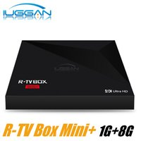 Medios De Youtube Baratos-Nueva llegada R-TV Box Mini + Android 7.1 RK3328 Quad Core 1GB 8GB KD KDMC 17.4 Soporte USB 3.0 4K Streaming Media Player VS A5X Plus