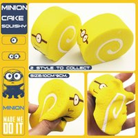 Wholesale Despicable Charms - Funny Cute Despicable Me Super Slow Rising Squishy Donut Food Cake Toys Squishies toys cell phone parts 20Pcsv Lot Free Shipping