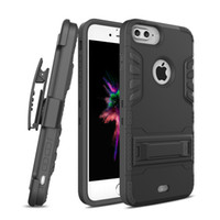 Wholesale Iphone 5s Holster Cases - For Samsung S8 plus Kickstand Case with Belt Clip Holster Cover for iphone 7 6s 6 5s plus Galaxy S7 edge OPP BAG