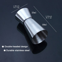 Wholesale Cocktail Measure Cup - Stainless Steel Measure Double-headed Ounce Cup Spirits Cocktail Drink Measure Cup Halloween Christmas Party Bar Tools