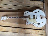 Wholesale Single Cutaway Guitar - Wholesale Guitars Left Handed JAZZ 6120 white Vibratone Tremolo Falcon Single Cutaway Electric Guitar in stock