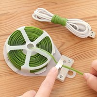 30 metri 100FT Gardening Plant Twist Tie con Cutter Long Tie Belt Sealing Cable Bundle Legare Cord String