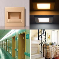 85-265V LED Wall Plinth Scala in metallo Step Lights 1.5W Hotel Bagno Camera Baby Bedroom Footlight LED Night Sala Riunioni Hallway Porch Lamps