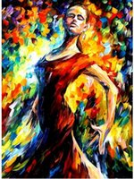 Wholesale Modern Flamenco - Beautiful Flamenco Dancer,Handcraft Modern Abstract Spanish Dancer Wall Decor Arts Oil Painting Quality Canvas Multi sizes Ab013