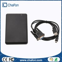 Wholesale Rfid Rs232 - Wholesale- 13.56MHz reading range 10cm rfid reader RS232 with 8 digit Hex output format provide free IC testing card free shipping