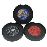 Wholesale Cool Wheels - Round Wheel Spinner Spider-man Web Super Hero Fidget Spinners Cool Black Metal Alloy Torqbar Toys Hand Spinner Fingertips Gyro 100 pcs DHL