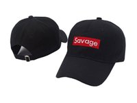 Wholesale Bills Snapback - 2017 The New Savage Box Logo Dad snapback caps Kanye West LIT palace Hat Embroidered Baseball Cap off white Curved Bill savage hat