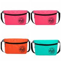 Wholesale Fanny Pack Shoulder Bag - Pink Fanny Pack Pink Letter Waist Belt Bag Fashion Beach Travel Bags Waterproof Handbags Purses Outdoor Cosmetic Bag Casual Phone Bags B2561