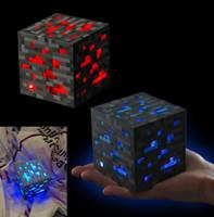 apfelförmige gläser großhandel-Minecraft Leuchten Redstone Ore Platz Spielzeug Minecraft nachtlicht LED Figur Spielzeug Leuchten Diamant Erz Kinder Geschenke Spielzeug