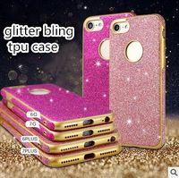 elmas kristal arka kapak toptan satış-Lüks Glitter Toz Bling Elmas Cilt Kristal Yumuşak tpu Case Arka Kapak iphone 7 6 6 S artı 5 renkler
