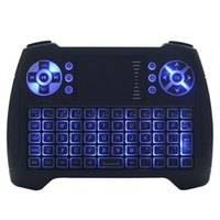 Wholesale Tv Led 15 - Fly Air Mouse Remote 2.4G Wireless Keyboard for Andriod TV Box Smart PC TouchPad Magic Trackpad LED Backlight Qwerty Remote Controller