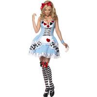 костюм для взрослых оптовых-Оптовая Хэллоуин покер костюмы женщин взрослый Алиса в стране чудес костюм Костюм горничные Лолита необычные платья косплей костюм для женщин девушка
