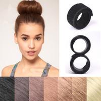 Wholesale Hair Curler Bun - Straight hair curler Donuts Bud Head Band Ball French Twist French Magic Bun Maker Sweet Hair Braiders FA501
