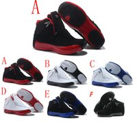 Wholesale 18 Snow - Top quality air retro 18 men basketball shoes red Black white blue retro XVIII sport shoes Breathable Jogging boost Sneakers cheap eur 41-47