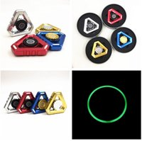Wholesale Hot Selling Toys Wholesale - 2017 Hot selling Newest Glow Metal USA Fidget Spinner Hexa-spinners EDS Anti-stress Rotation Metal Spinner Cooper Decompression Novelty Toy