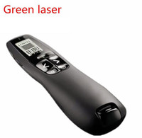 Wholesale Laser Green Usb - Presentation Clicker R800 2.4 GHz Powerpoint Remote Control 5mw Green Laser Pointer with USB Receiver