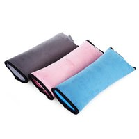 Wholesale Car Safety Seat Auto - Rectangle Baby Children Kids Car Auto Seat Belt Safety Belt Cover Cushion Shoulder Harness Pad Soft Sleep Protection SupportPillow 150385803